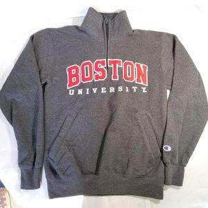 Champion Boston University Sweatshirt Women Size S